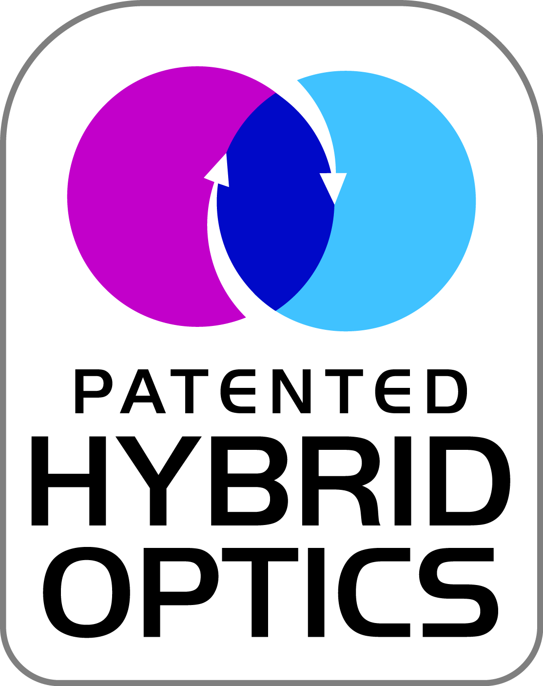 Patented Hybrid Optics Logo